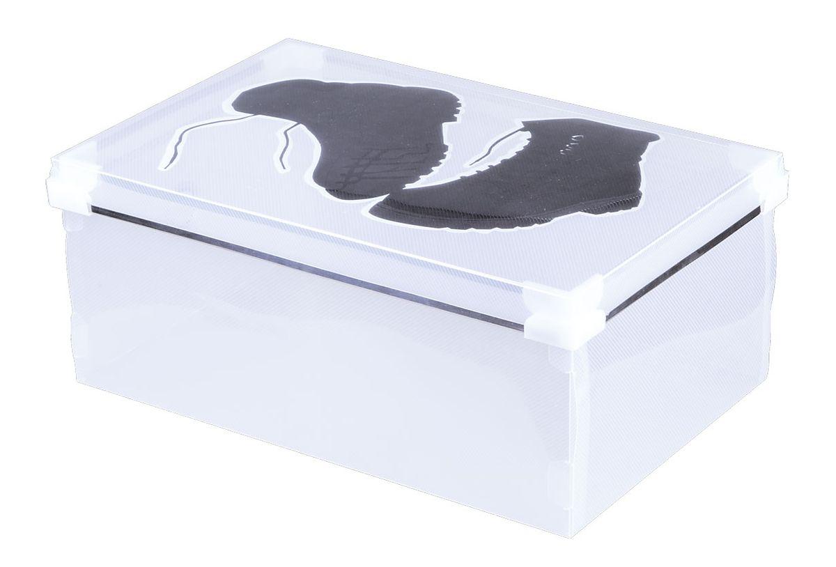 Короб для хранения обуви Miolla, 34 x 22 x 14 смPB-006Короб для хранения Miolla изготовлен из прозрачного полипропилена. Короб поставляется в разобранном виде, легко и быстро складывается. Оснащен крышкой. Такой короб прекрасно подойдет для хранения обуви.Размер короба: 34 x 22 x 14 см.