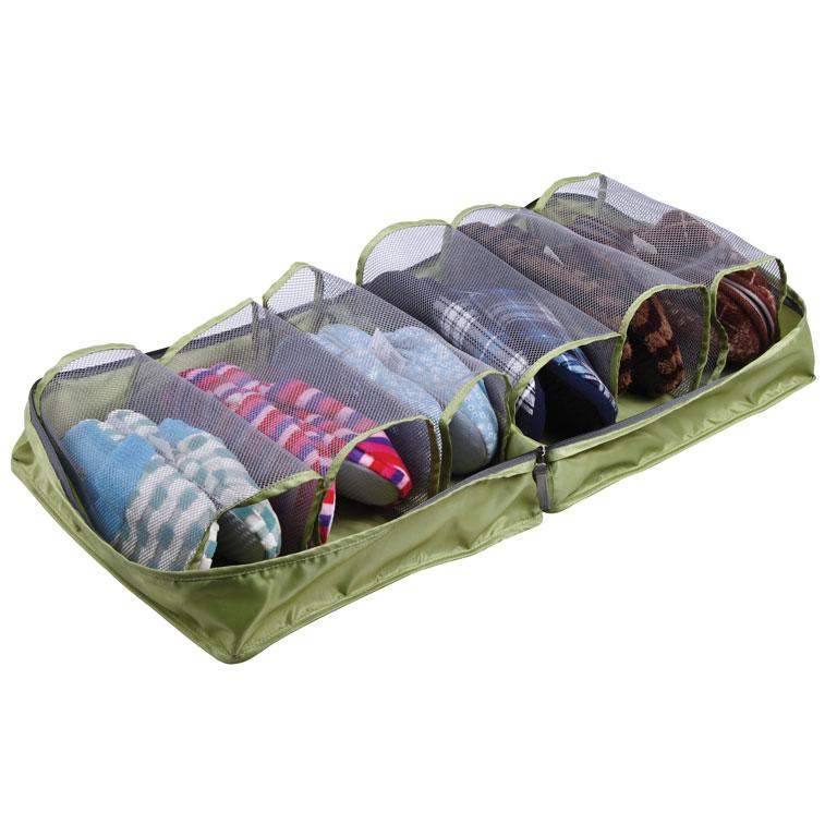 Сумка для обуви Miolla, цвет: зеленый, 36 х 36 х 17 см ваза 26 см х 17 см х 26 см