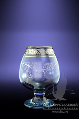 Набор бокалов для бренди Гусь-Хрустальный Нежность, цвет: золотой, серебристый, прозрачный, 250 мл, 6 шт набор бокалов для бренди гусь хрустальный версаче 400 мл 6 шт