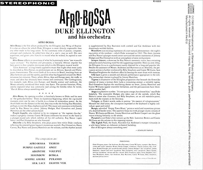 Duke Ellington And His Orchestra.  Afro-Bossa Warner Music,Wea International Inc.