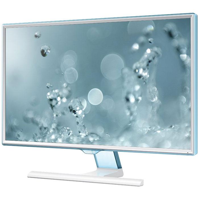 Samsung S24E391HL, White мониторLS24E391HLO/RUМонитор Samsung S24E391HL имеет матрицу с широкими углами обзора, которая обеспечивает качественноеизображение, так как углы обзора составляют 178 градусов по вертикали и горизонтали. Независимо от ситуации,вы сможете наслаждаться великолепным качеством изображения.Режим Eye Saver Mode понижает нагрузку на глаза во время работы за монитором путем снижения интенсивностиголубого свечения. Технология Flicker Free обеспечивает защиту глаз от постоянного напряжения, вызванногомерцанием и позволяет дольше работать. Эко-энергосберегающая технология снижает яркость экрана дляповышения энергоэффективности. Доступны ручная (25%, 50%) и автоматическая (снижает потребление примернона 10%) регулировка яркости черных секций экрана. Для уменьшения негативного влияния на окружающую среду вмониторе Samsung S24E391HL не используется ПВХ.