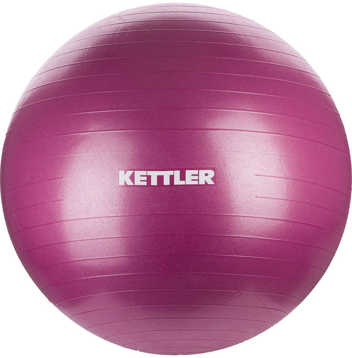 Мяч гимнастический Kettler, цвет: бордовый, 75 см коврик гимнастический kettler цвет голубой 173 х 61 см