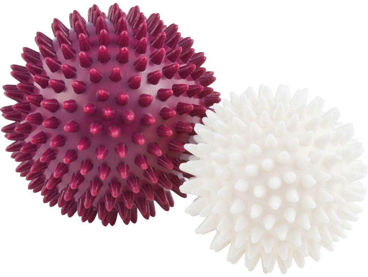 Мячи массажные Kettler, бордовый, жемчужно-белый, 2 шт