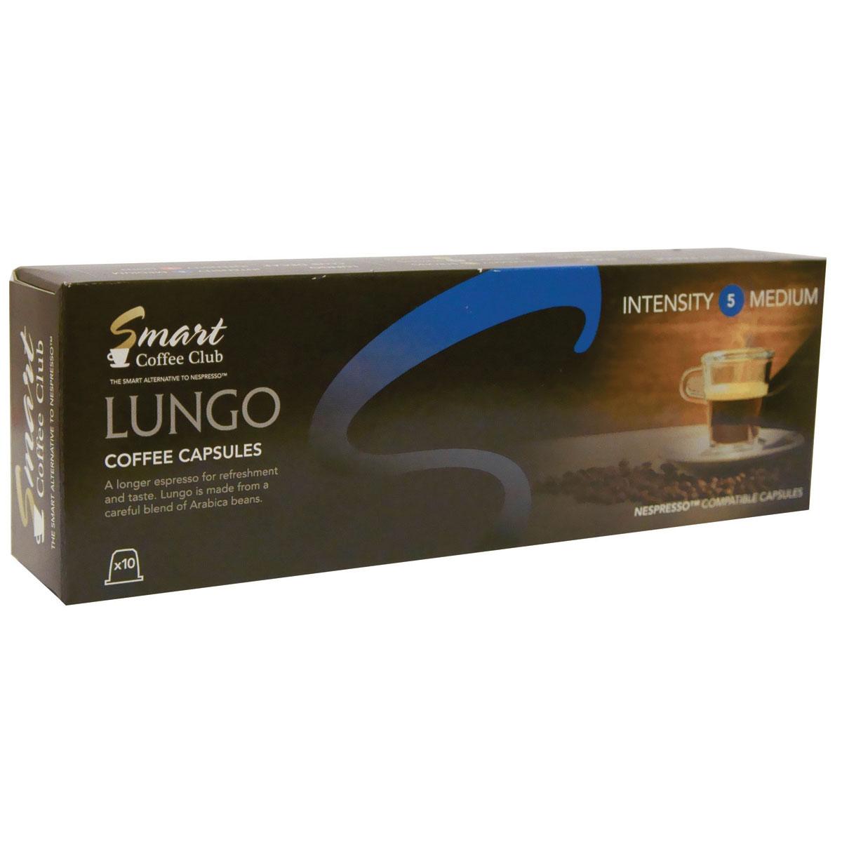 где купить Smart Coffee Club Lungo кофе в капсулах, 10 штук по лучшей цене