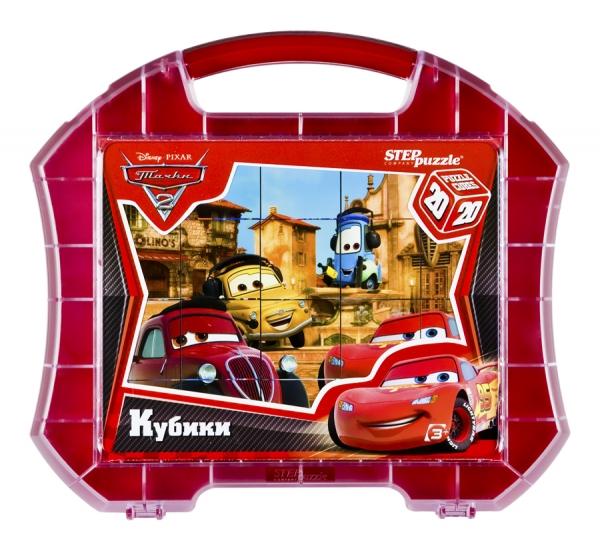Step Puzzle Кубики Тачки-2 в чемоданчике