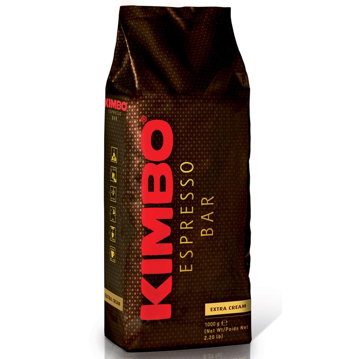 Kimbo Extra Cream кофе в зернах, 1 кг8002200140014Натуральный жареный кофе в зернах Kimbo Extra Cream. Это результат тщательного отбора кофейных зерен. Великолепный баланс сладости и легкой кислинки. Устойчивая пенка и хорошо сбалансированная консистенция придают смеси мягкий вкус. Смесь содержит 80% арабики и 20% робусты.