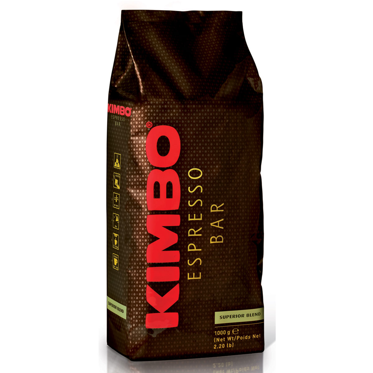 Kimbo Superior Blend кофе в зернах, 1 кг8002200140021Кофе зерновой натуральный жареный Kimbo Superior Blend. Гармоничная смесь для эспрессо, составленная преимущественно из сортов арабики, с устойчивым ароматом и сладковатым, мягким вкусом. Смесь содержит 90% арабики и 10% робусты.