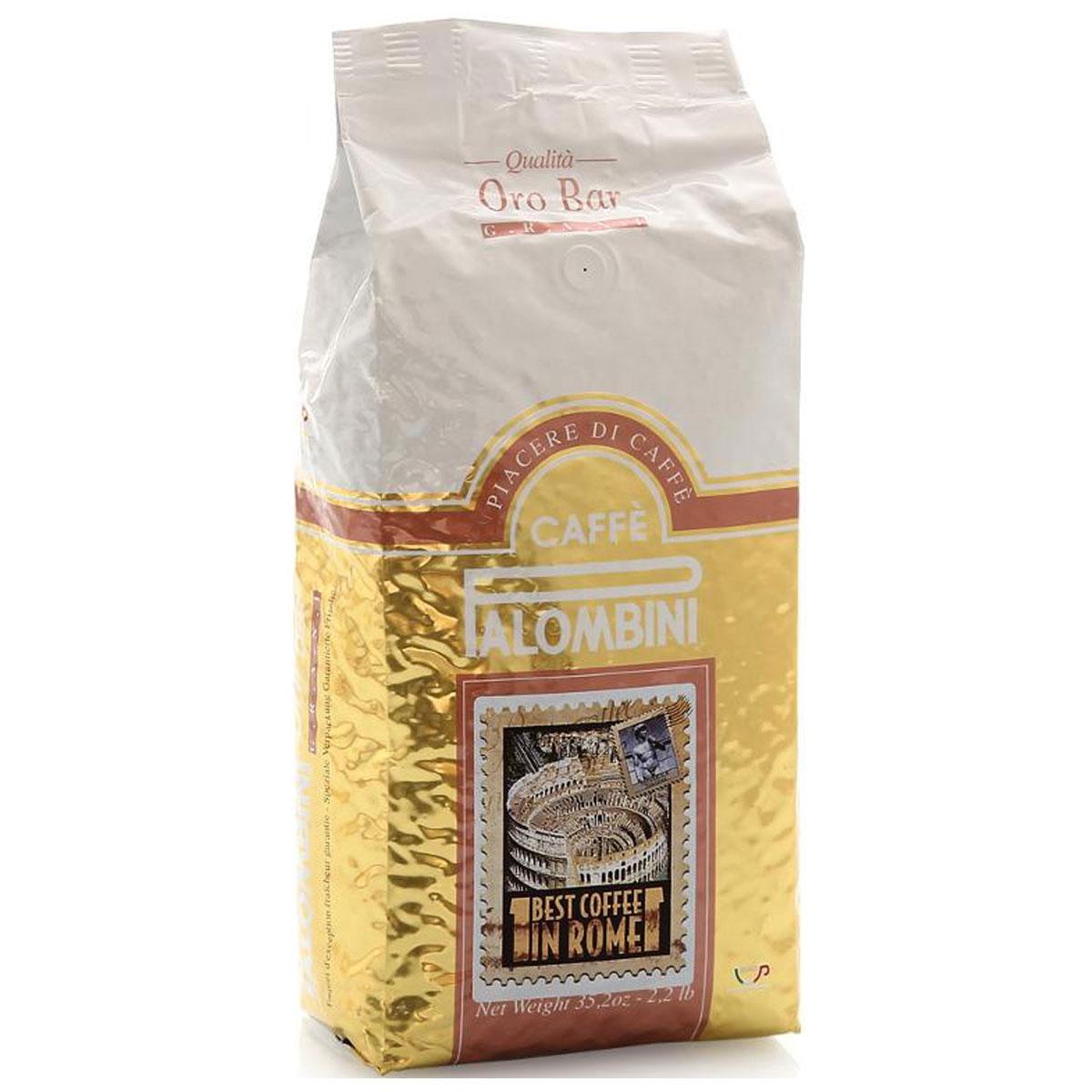 Palombini Oro Bar кофе в зернах, 1 кг8009785302417Натуральный жареный кофе в зернах Palombini Oro Bar,высший сорт. Самые ценные атрибуты этой смеси - выразительность вкусаи насыщенная консистенция. Oro Bar замечательно подойдет как для приготовления пробуждающего эспрессо, так и изысканного каппуччино. Смесь содержит 85% арабики и 15% робусты.