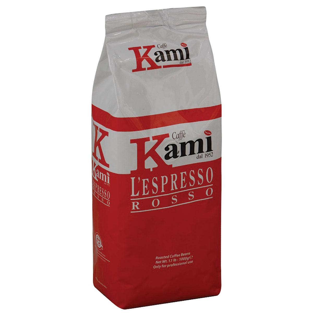 Kami Rosso кофе в зернах, 1 кг8033300583005Натуральный жареный зерновой кофе Kami Rosso. Колумбийские зерна арабики, придающие высокую плотность и сбалансированный вкус, в сочетании с индонезийской робустой, подчеркивающей нотки горького шоколада, делают эспрессо незабываемым. Рекомендуется для приготовления ристретто, эспрессо, капучино. Состав смеси: 75% арабика, 25% робуста.