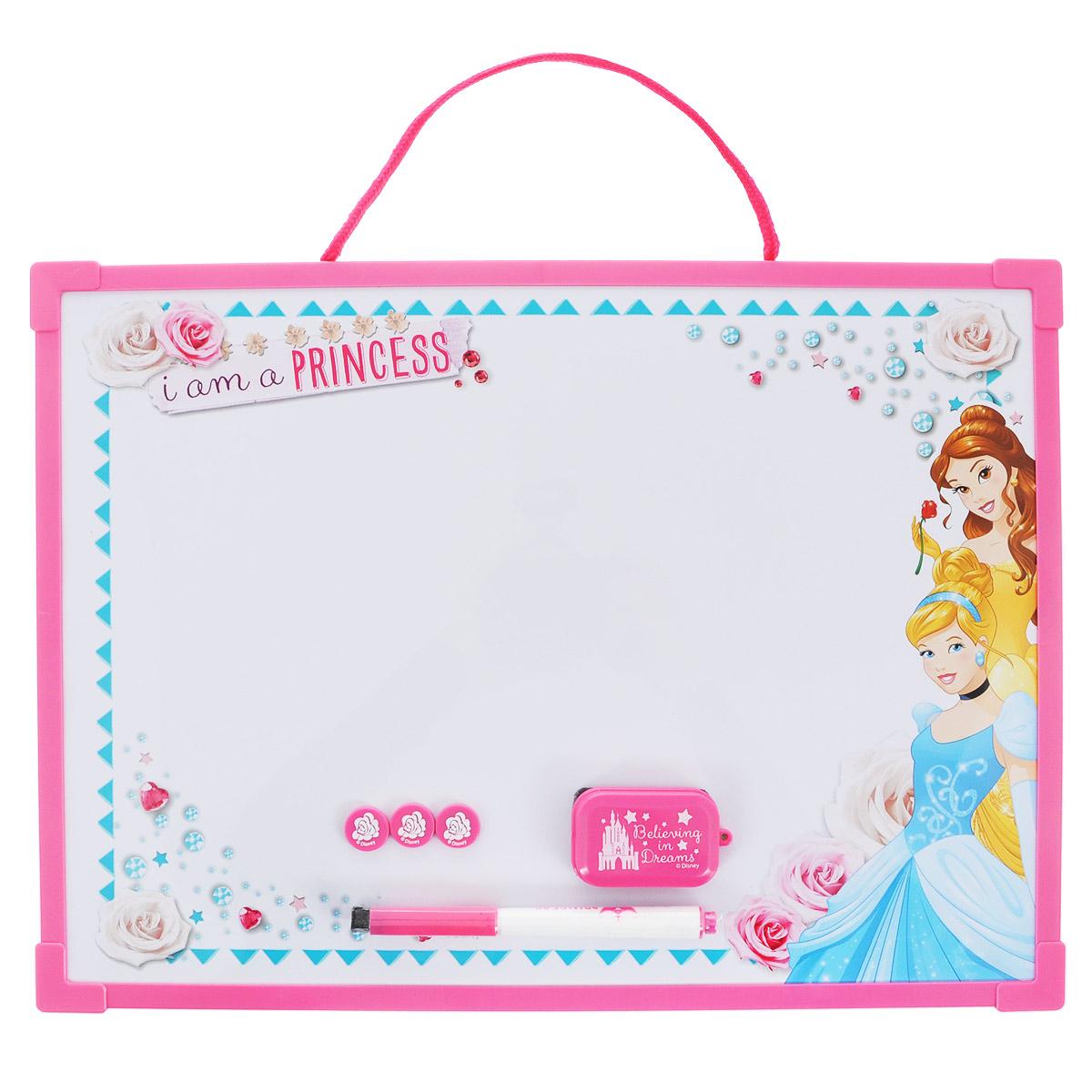 Доска для рисования Princess  Пиши-стирай , цвет: розовый, белый. PRCB-US1-Z150098 -  Доски