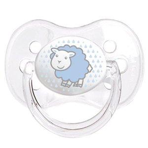 Canpol Babies Пустышка силиконовая Овечка 18 месяцев цвет голубой  - купить со скидкой