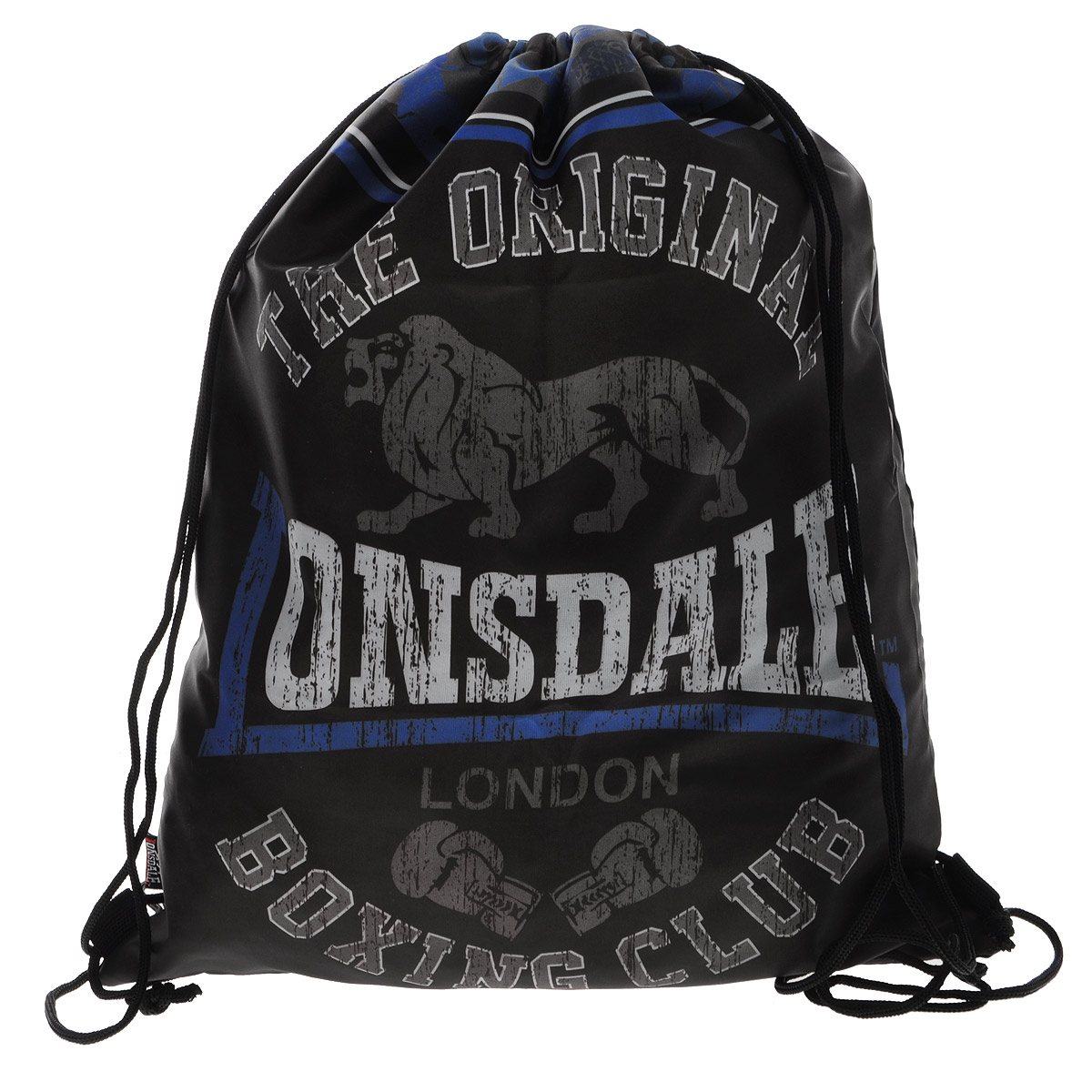Lonsdale Сумка-рюкзак для обуви цвет черно-голубой LSCB-UT1-883 мешок для обуви академия групп transformers 43 34см trbb ut1 883