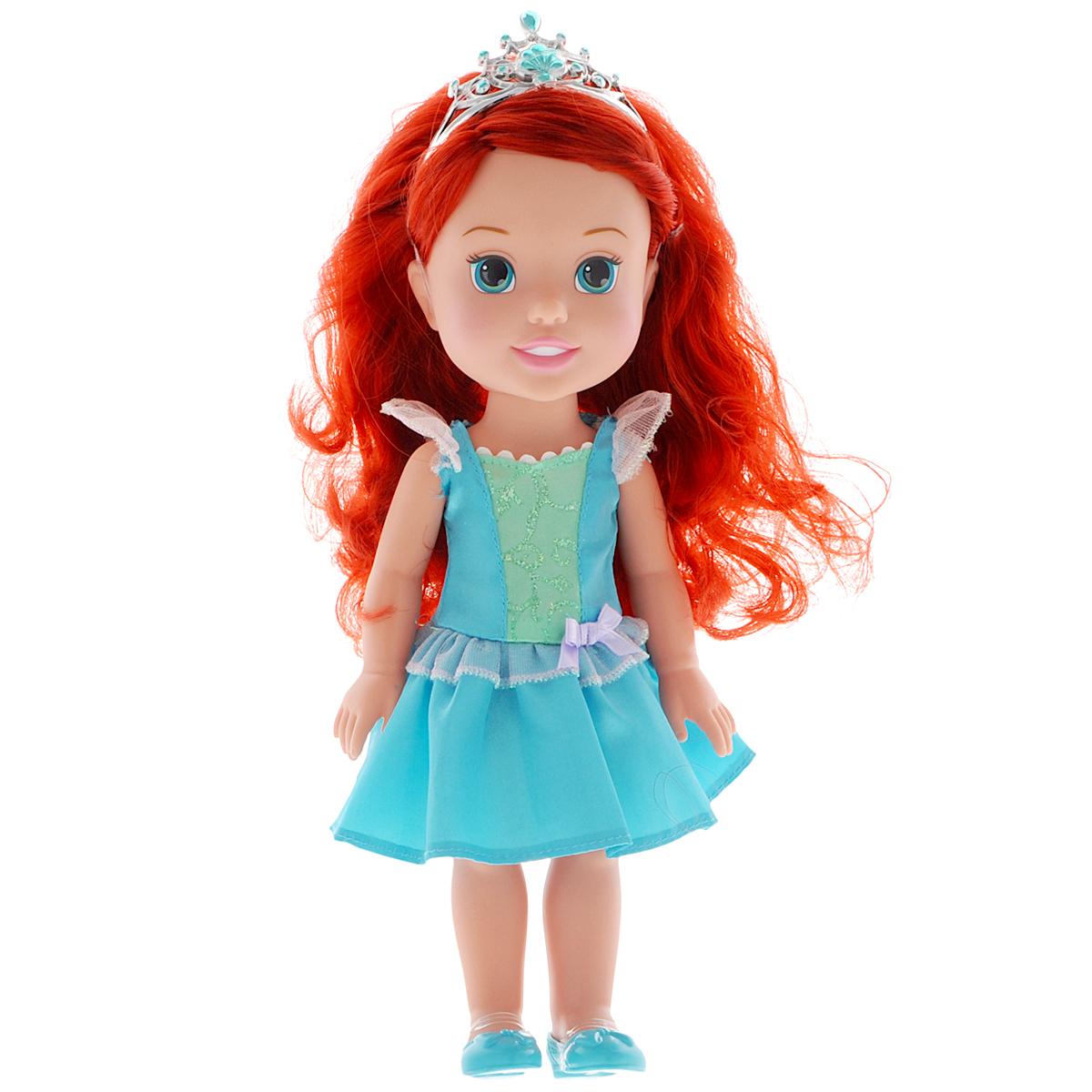 Disney Princess Кукла Малышка Ариэль цвет платья голубой disney кукла малышка с питомцем ариэль 15 см disney princess