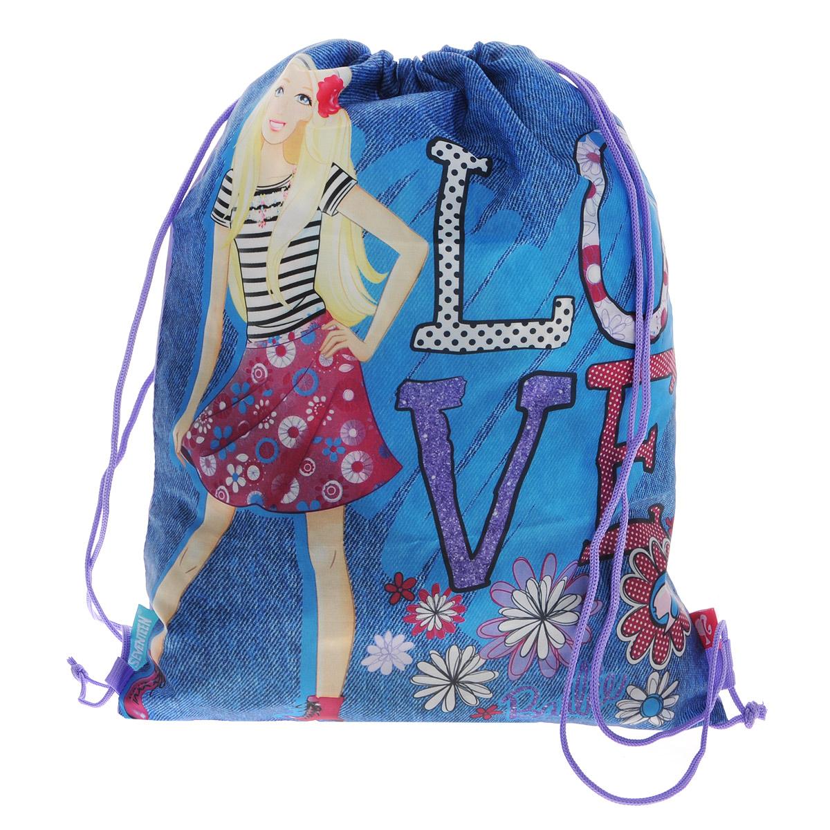 Barbie Сумка-рюкзак для обуви цвет синий BRCB-RT2-883