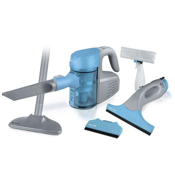 Vitek VT-1810(B) набор пылесосовVT-1810(B)Пылесос c мешком для сбора пыли VT-1810 – стильная и надежная техника для ежедневного использования! Данная модель мощностью 1600 Вт позволит быстро и легко добиться идеальной чистоты в доме. Для того, чтобы вы были довольны результатом, пылесос VT-1810 оснащен 4-х ступенчатой системой фильтрации, которая позволяет предотвратить обратный выброс пыли в помещение. Дополнительные щетки-насадки помогут легко очистить как напольные покрытия, так и ковры и мебелью. Телескопический принцип трубы всасывания позволит вам легко регулировать ее, подстраивая под свой рост. В набор входит также стеклоочиститель с двумя насадками, работающий от аккумулятора.