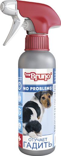 Спрей зоогигиенический для собак Mr. Bruno Отучает гадить, 200 мл mr bruno mr bruno ошейник репеллентный для собак 75 см зеленый