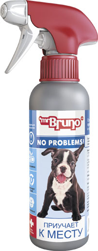 Спрей зоогигиенический для собак Mr. Bruno Приучает к месту, 200 мл mr bruno mr bruno ошейник репеллентный для собак 75 см зеленый