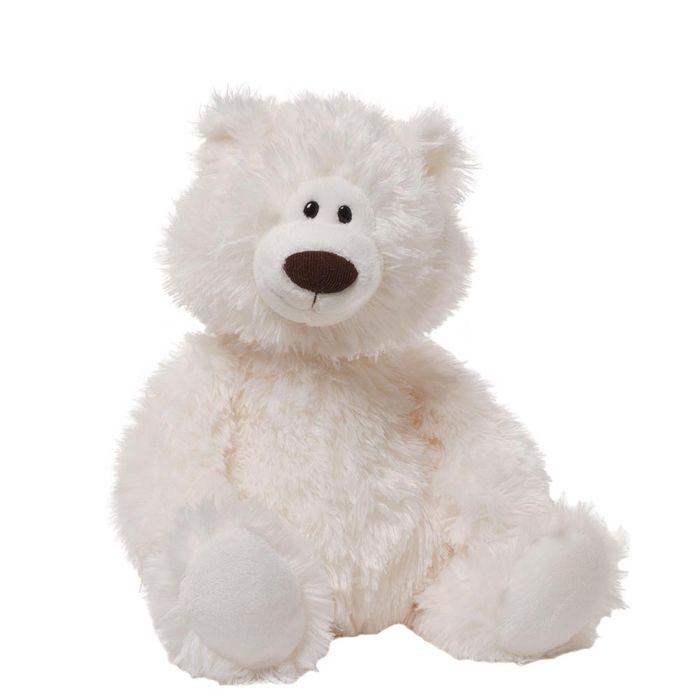 Игрушка мягкая Gund Медведь, цвет: белый, 40 см. 4040162 мягкая игрушка белый медведь 27 см