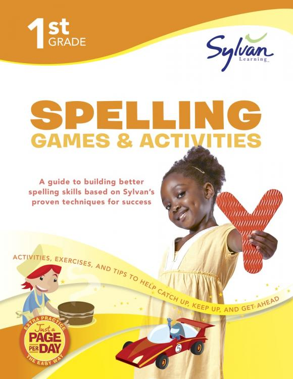 First Grade Spelling Games & Activities (Sylvan Workbooks) 2nd grade games puz supr wkbk