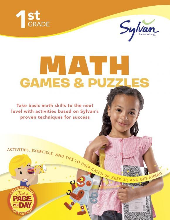 First Grade Math Games & Puzzles (Sylvan Workbooks) math made easy first grade
