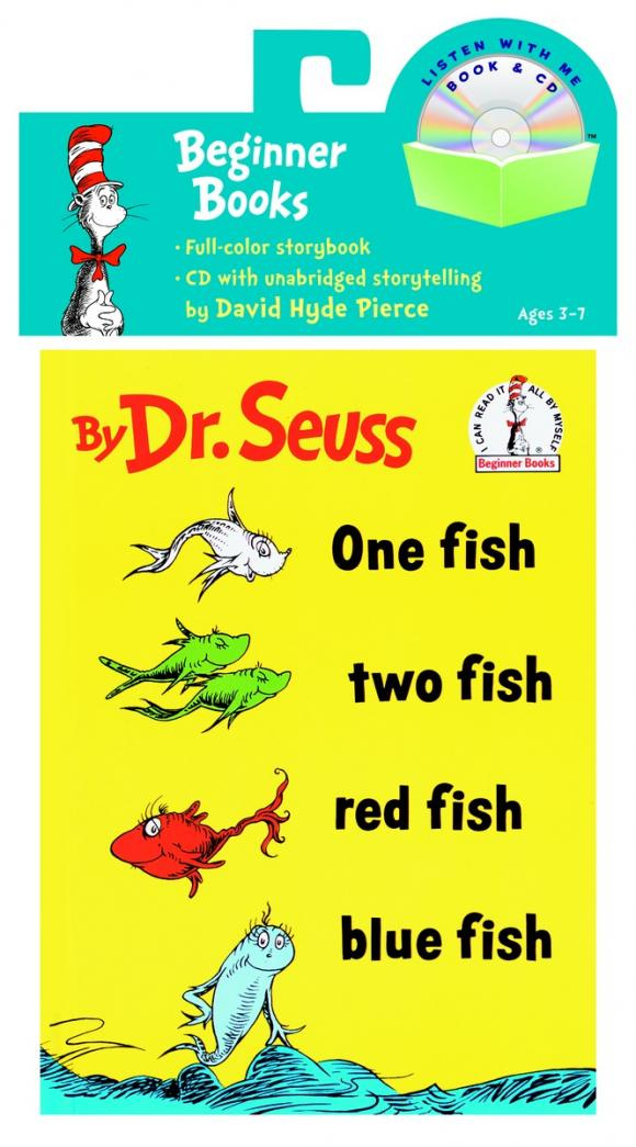 One Fish, Two Fish, Red Fish, Blue Fish Book & CD ютуб one two