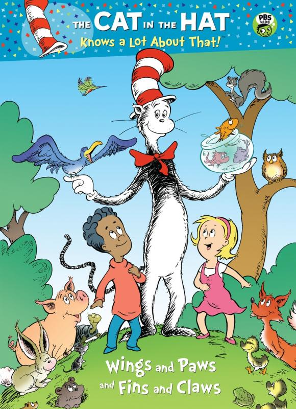 Wings and Paws and Fins and Claws (Dr. Seuss/Cat in the Hat) туника artwizard artwizard mp002xw0diaa