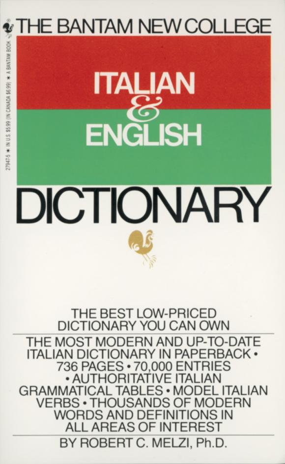 Bantam New College Italian/English Dictionary mastering english prepositions