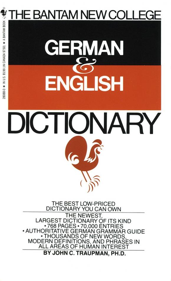 Bantam New College German/English Dictionary new eli picture dictionary cd rom german