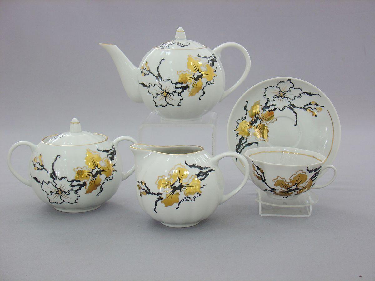Сервиз чайный 15 предм. Тюльпан Сакура alex чайный сервиз поймай бабочку