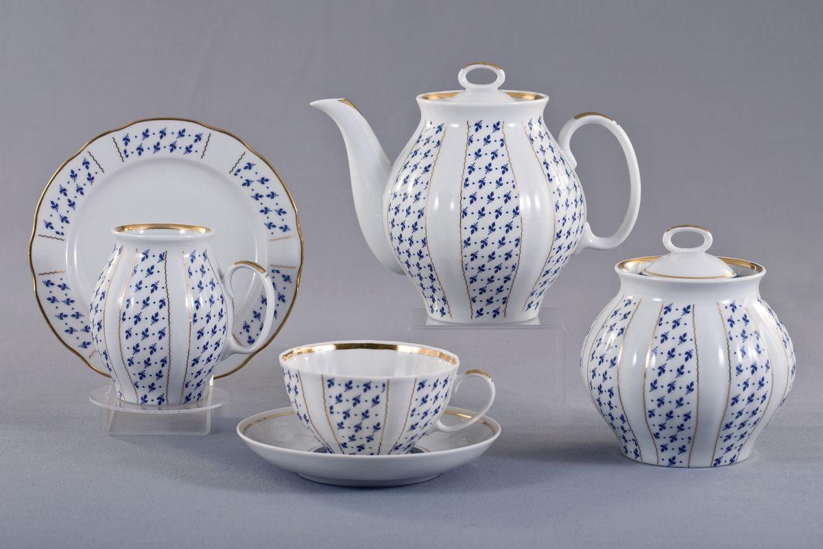 Сервиз чайный 21 предм. Белый лебедь Ситец alex чайный сервиз поймай бабочку