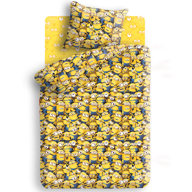 Комплект белья Миньоны, 1,5-спальный, наволочка 70х70, цвет: желтый, синий raymond weil jasmine 5235 stc 00970