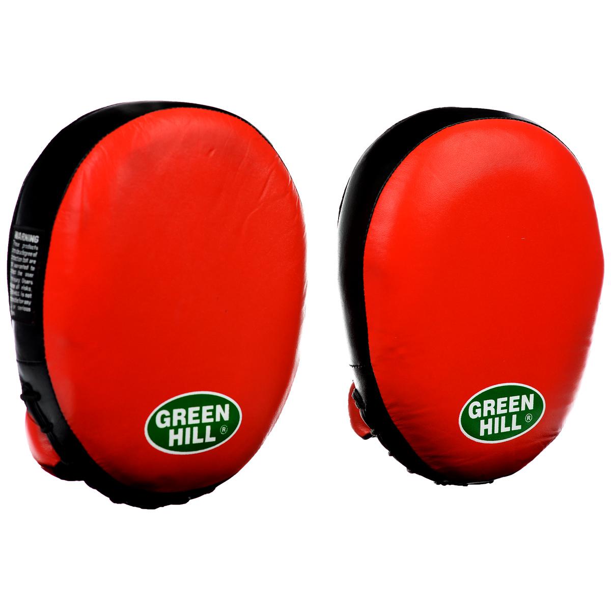 Лапы боксерские Green Hill Super, 2 штFMS-5014Боксерские лапы Green Hill Super имеют вид уплотненной подушки овальной формы. Служат для отработки точности и скорости ударов. Ударная поверхность имеет углубление. Верх сделан из натуральной кожи. Плотный наполнитель обеспечивает отличную фиксацию удара. Лапы удобно сидят на руке, их анатомическая форма позволяет снизить нагрузку во время тренировки. Запястье плотно и надежно фиксируется. В комплекте 2 лапы. Подходят для всех уровней подготовки. Размер лапы: 26 см х 19 см х 7 см.