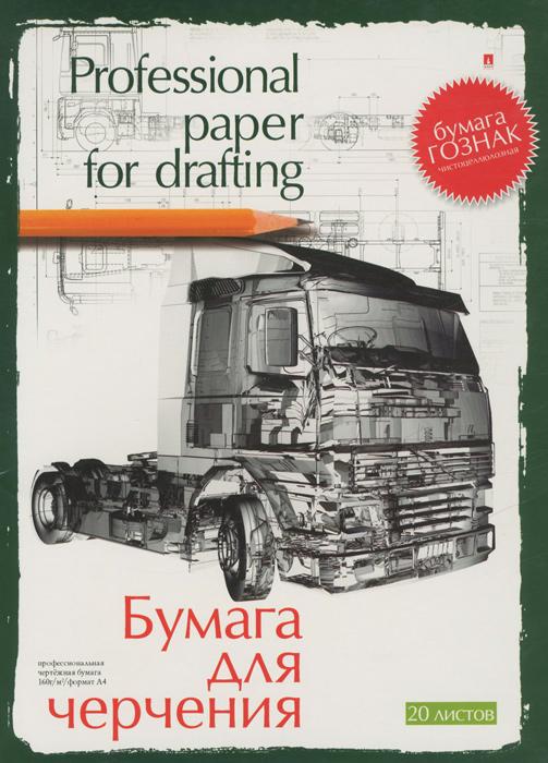 """Бумага для черчения """"Альт"""", 20 листов, формат А4, 4-20-020, в ассортименте"""