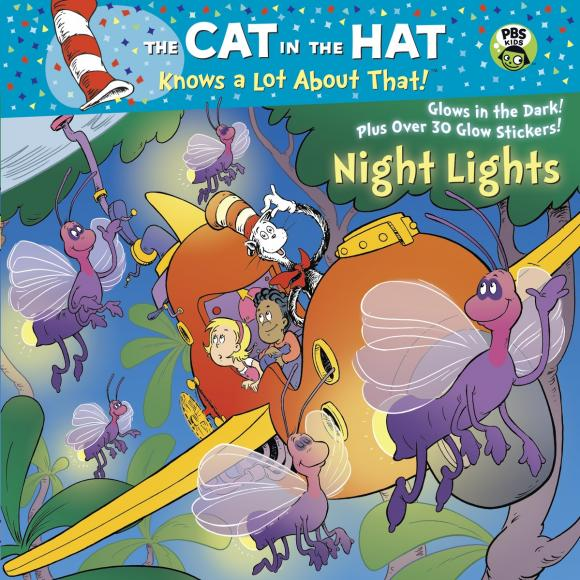 Night Lights a cat a hat and a piece of string
