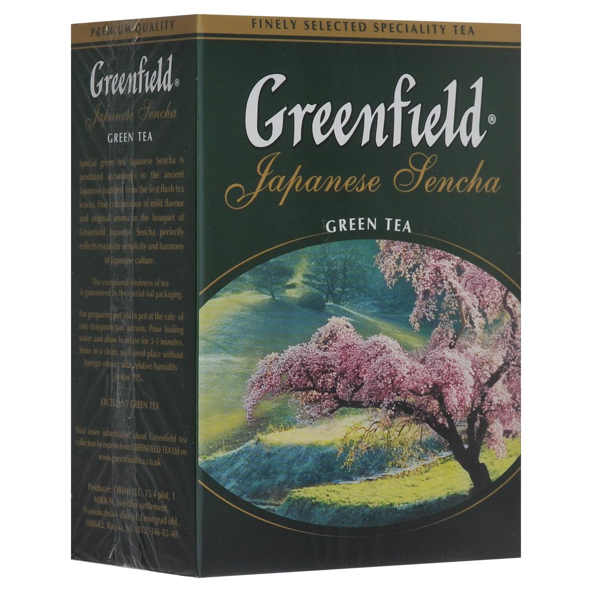 Greenfield Japanese Sencha зеленый листовой чай, 100 г0612-16Японский зеленый чай из провинции Фукуока. Изготавливается по особой технологии: на несколько дней перед сбором чайные кусты затеняют тростниковым или бамбуковым покрытием, чтобы усилить ароматические свойства чая. Собранные чайные листочки не сушат, как принято в других «чайных» странах, а обрабатывают паром и слегка сплющивают, поэтому на вид готовая сенча напоминает остренькие зеленые иголочки. А климатические условия страны, островное расположение плантаций, особенности почв, дают чаю самобытный сложный вкусовой букет. Джапаниз Сенча - необычный чай, в нем явно ощущается тонкий сливочный вкус и легкий аромат моря - так может пахнуть соленый прибой.Всё о чае: сорта, факты, советы по выбору и употреблению. Статья OZON Гид