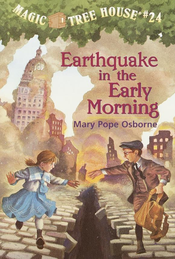 Magic Tree House #24: Earthquake in the Early Morning 4 in the morning opi