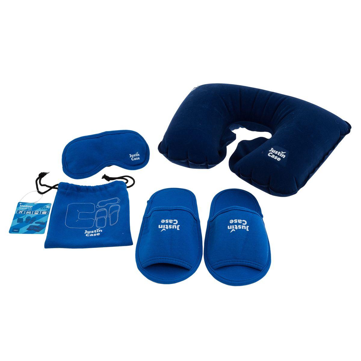 Набор для путешествия  JustinCase , цвет: голубой - Маски, наборы для сна