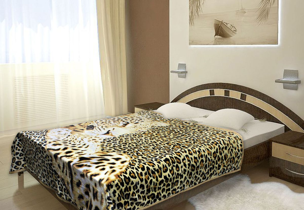 Плед Buenas Noches Фланель. Леопард, цвет: коричневый, белый, черный, 160 см х 210 см69199Плед Buenas Noches - это идеальное решение для вашего интерьера! Он порадует вас легкостью, нежностью и оригинальным дизайном! Плед выполнен из 100% полиэстера и оформлен изображением леопарда. Полиэстер считается одной из самых популярных тканей. Это материал синтетического происхождения из полиэфирных волокон. Изделия из полиэстера не мнутся и легко стираются. После стирки очень быстро высыхают.Плед - это такой подарок, который будет всегда актуален, особенно для ваших родных и близких, ведь вы дарите им частичку своего тепла!Продукция торговой марки Buenas Noches сделана с особой заботой, специально для вас и уюта в вашем доме!