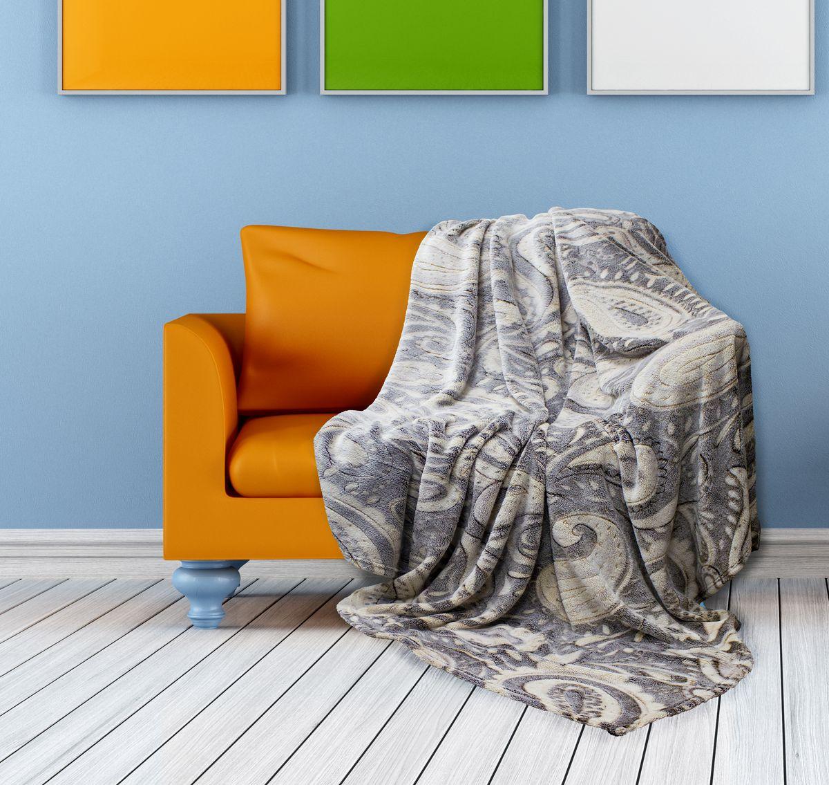 Плед Buenas Noches Bamboo, цвет: серый, бежевый, 150 х 200 см. 6953769537Плед Buenas Noches Bamboo - идеальное решение для вашего интерьера.Он порадует вас легкостью, нежностью и оригинальным дизайном.Плед выполнен из 100% полиэстера и декорирован оригинальным орнаментом.Полиэстер считается одной из самых популярных тканей. Это материал синтетического происхождения из полиэфирных волокон. Изделия из полиэстера не мнутся и легко стираются. После стирки очень быстро высыхают. Плед - это такой подарок, который будет всегда актуален, особенно для ваших родных и близких, ведь вы дарите им частичку своего тепла!
