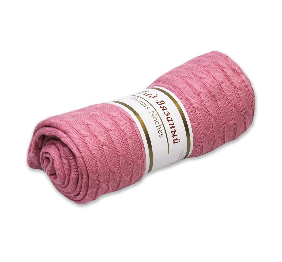Плед вязаный Buenas Noches Manhattan, цвет: розовый, 180 х 200 см74376Вязаный плед Buenas Noches Manhattan - идеальное решение для вашего интерьера. Плед изготовлен из 100% акрила - современного высококачественного материала, который обладает замечательными свойствами. Изделия из акрила прекрасно сохраняют форму, не деформируются, не мнутся, всегда выглядят аккуратно, сохраняют размер и привлекательный внешний вид долгое время. Акрил идеален при использовании под открытым небом, так как обладает свойством водоотталкивания и быстро высыхает. Материал гипоаллергенный, безопасный, стойкий к воздействию живых организмов, волокнам не страшна плесень. Плед мягкий, приятный на ощупь, великолепный на вид, он обладает низкой теплопроводностью, замечательно сохраняет тепло. Беспрецедентная стойкость и ровность красок позволит пледу не выгореть на солнце и остаться первозданно ярким в течение продолжительного времени. Продукция Buenas Noches сделана с особой заботой, специально для вас и уюта в вашем доме! Рекомендации по уходу: - Ручная стирка, - Не отбеливать, - Сушить при низкой температуре, - Деликатные отжим и сушка. Плотность плетения ткани: 240 г/м2.