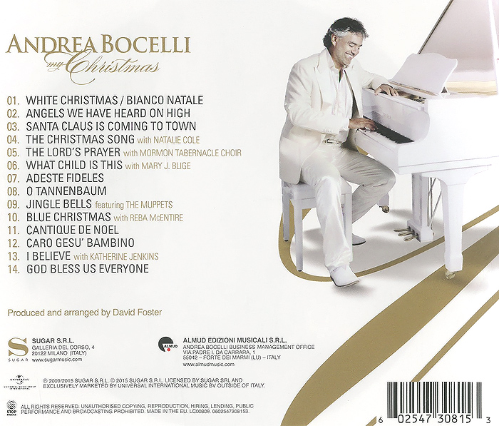 Andrea Bocelli.  My Christmas ООО