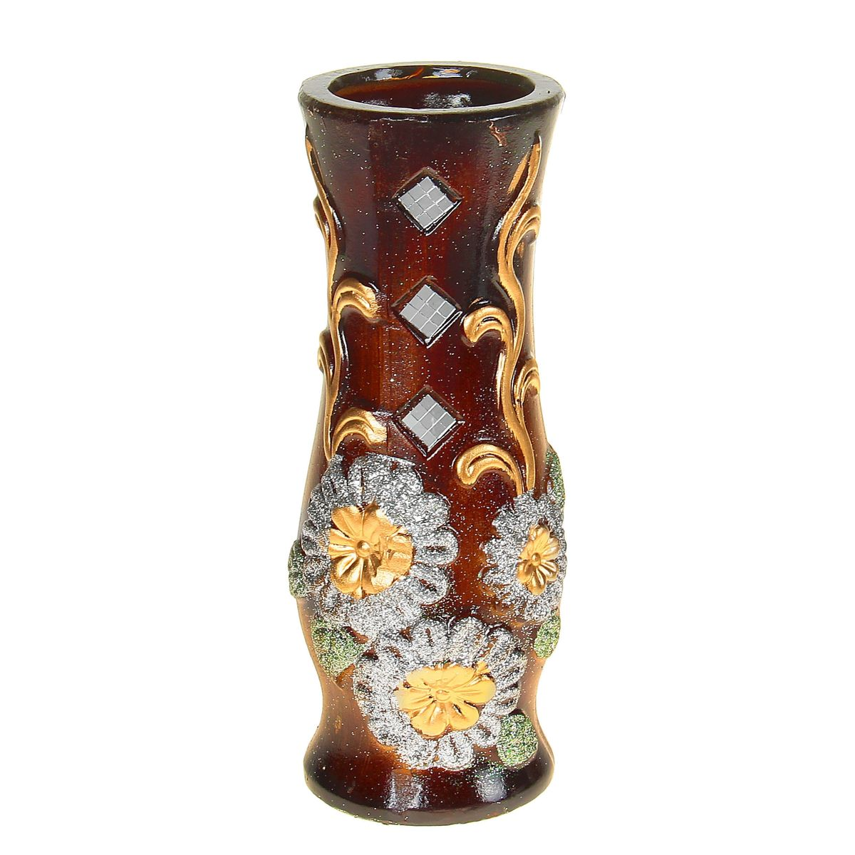 Ваза керамика 30 см цветочки ромбы (3 вида) 10449791044979Керамика