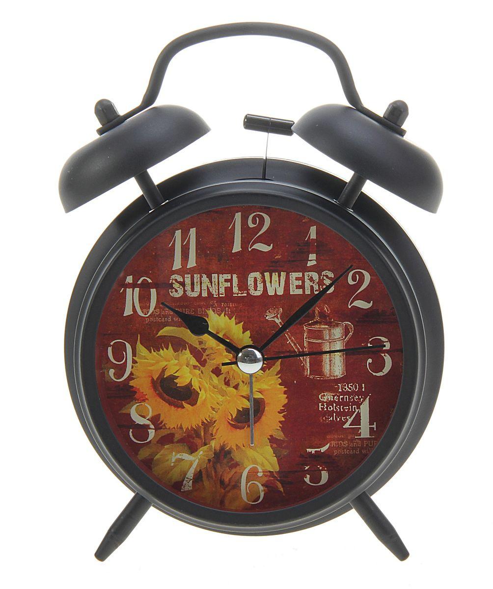 Часы-будильник Sima-land  Подсолнухи  - Радиобудильники и проекционные часы