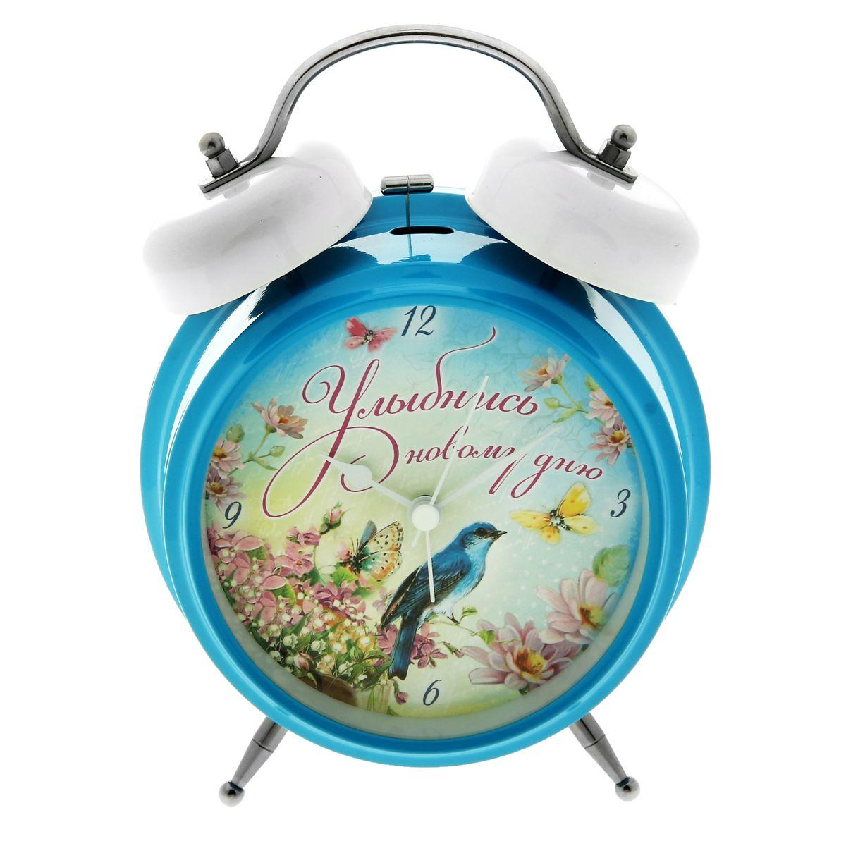 Часы-будильник Sima-land Улыбнись новому дню часы будильник sima land жду встречи