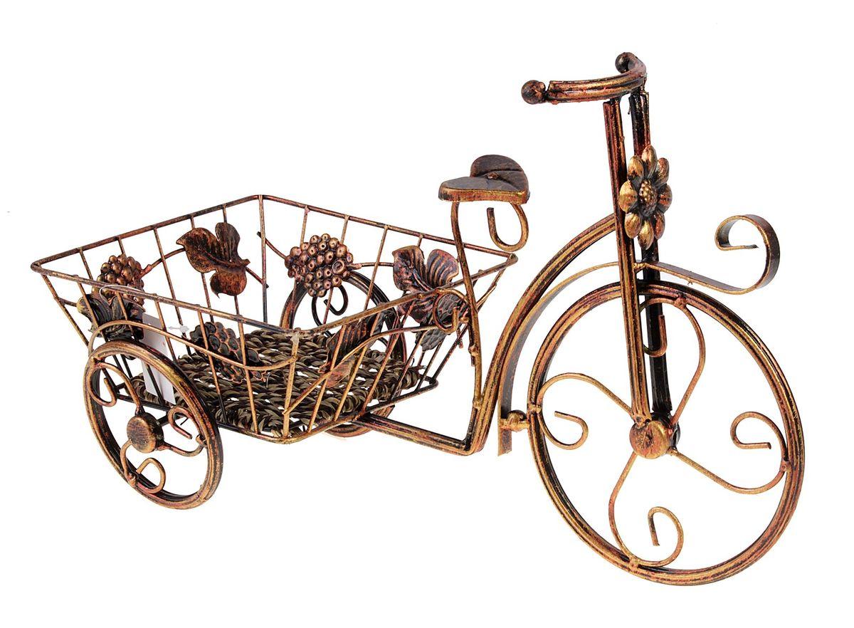 Кашпо Велосипед, 42 х 26 см588896Кашпо Велосипед изготовлено из металла в виде велосипеда. Кашпо имеет одно отделение для цветочногогоршка. Кашпо - декоративная ваза для цветочных горшков.Фигурные кашпо для цветов служат объектом декора помещения. Дом, украшенный фигурными кашпо, приобретает свою оригинальность, свой характер. Неожиданные и оригинальные кашпо для цветов - это самый простой и доступный способ сделать дом, дачу или приусадебную территорию неповторимыми. Кашпо Велосипед - красивый и оригинальный сувенир для друзей и близких.