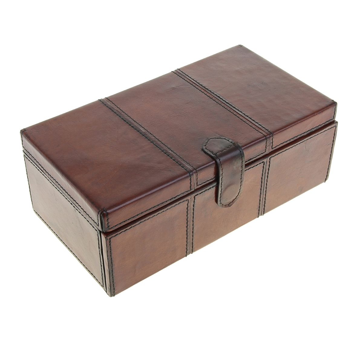 Шкатулка Sima-land, цвет: коричневый, 28,5 см х 15,5 см х 11 см699573Великолепная шкатулка Sima-land для бижутерии не оставит равнодушной ни одну любительницу изысканных вещей. Шкатулка выполнена в виде сундучка из МДФ, обтянутого кожей буйвола. Внутренняя поверхность шкатулки отделана текстилем бежевого цвета. Шкатулка закрывается на магнитный замок.Внутри имеется четыре отделения, одно из которых закрывается на крышку. Внизу имеется два выдвижных потайных отделения. На внутренней стороне крышки имеется зеркальце.Сочетание оригинального дизайна и функциональности сделает такую шкатулку практичным, стильным подарком и предметом гордости ее обладательницы.Размер зеркала: 22 см х 9 см.