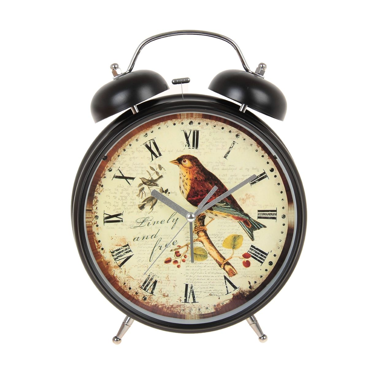 Часы-будильник Sima-land Linely And Free, цвет: черный, светло-желтый, диаметр 20 см часы будильник sima land жду встречи