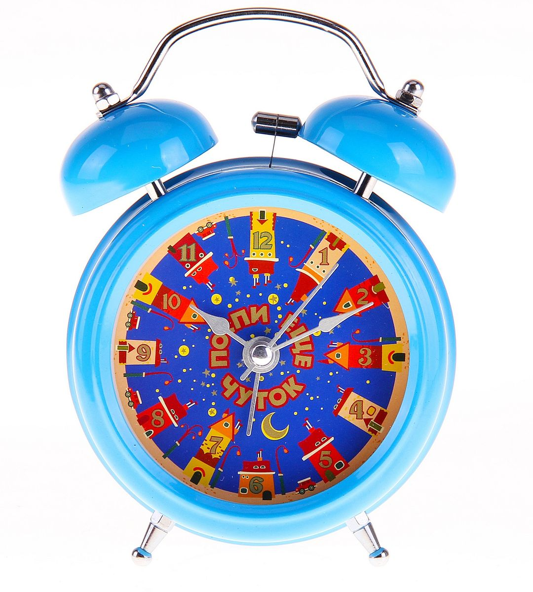 Часы-будильник Sima-land Поспи еще чуток728396Как же сложно иногда вставать вовремя! Всегда так хочется поспать еще хотя бы 5 минут и бывает, что мы просыпаем. Теперь этого не случится! Яркий, оригинальный будильник Sima-land Поспи еще чуток поможет вам всегда вставать в нужное время и успевать везде и всюду.Корпус будильника выполнен из металла. Циферблат оформлен ярким рисунком и надписью: Поспи еще чуток, имеет индикацию арабскими цифрами. Часы снабжены 4 стрелками (секундная, минутная, часовая и для будильника). На задней панели будильника расположен переключатель включения/выключения механизма, а также два колесика для настройки текущего времени и времени звонка будильника.Пользоваться будильником очень легко: нужно всего лишь поставить батарейку, настроить точное время и установить время звонка. Необходимо докупить 1 батарейку типа АА (не входит в комплект).