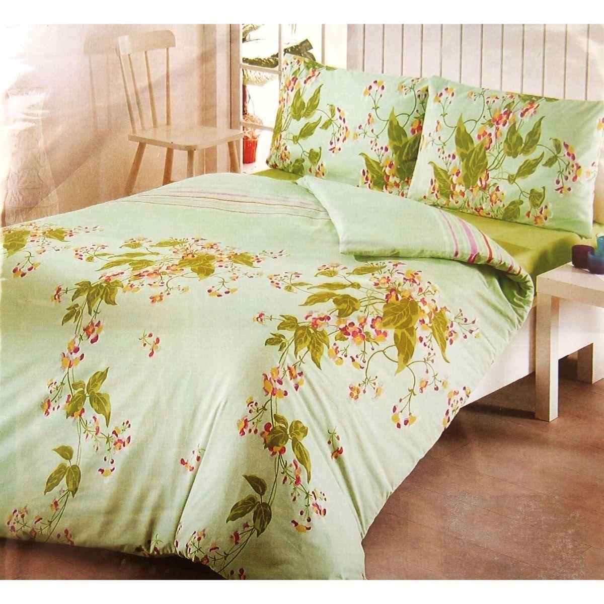 Комплект белья ANTALYA, 1,5-спальный, наволочки 70x70. 824696824696произведено из высококачественного турецкого хлопка, простынка на резинке, пододеяльник и наволочки на замке