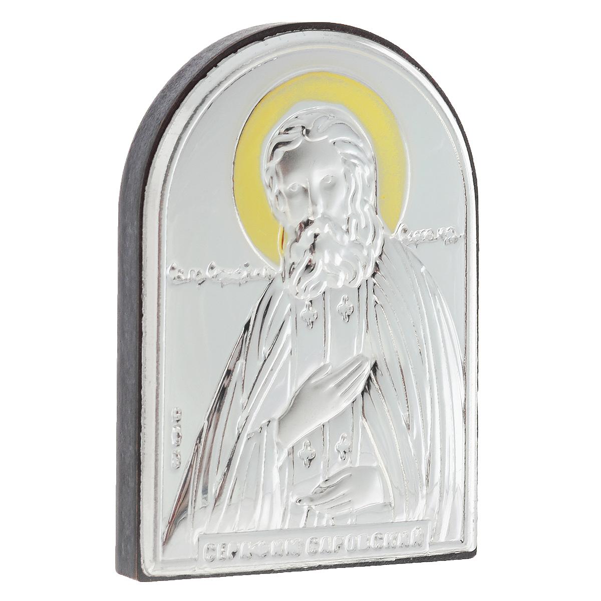 Икона Святого Преподобного Серафима Саровского, 5,5 см х 4 см